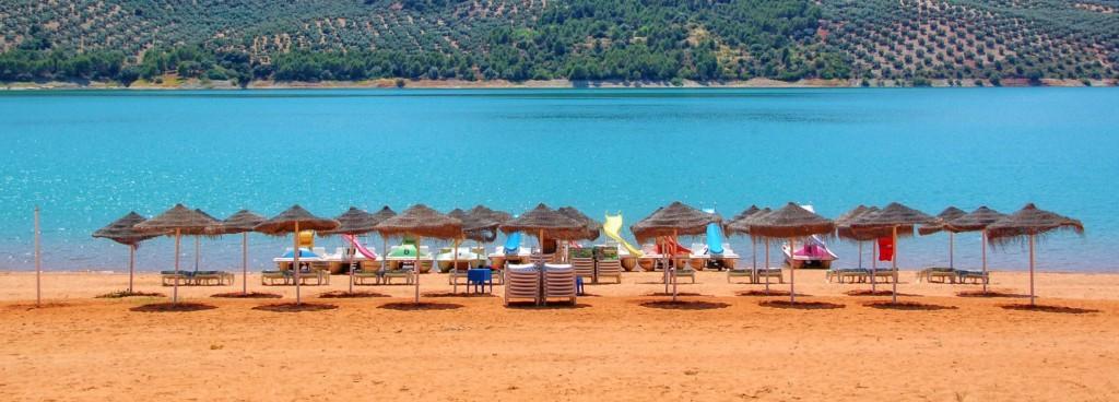 Valdearenas Beach Lake of Iznajar Cordoba Andalucia