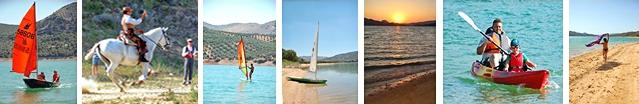 Iznajar Beach, Andalucia, Boats, Kayaks, Sailing, Horses