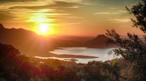 Sunsets from La Celada Iznajar