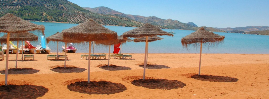 Lake of Iznajar Valdearenas Beach
