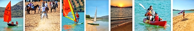 Lake of Iznajar Sailing, Kayaks, swimming, fishing