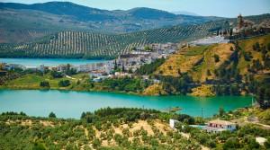 Iznajar Lake & Castle from La Celada